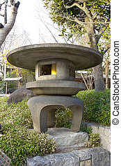 Japanese traditional stone lantern.