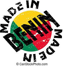 Made in Benin - vector label Made in Benin