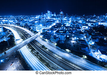 Tel Aviv skyline - Aerial View Of Tel Aviv At Night - Tel...
