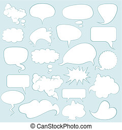 Speech Balloons - Various comics speech balloons and bubbles...