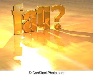 3D Faq? Gold text - 3D Faq? Gold text over yellow background...