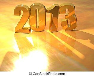 3D 2013 Gold text