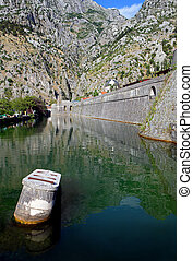 Kotor - The moat around the stronghold in Kotor, Montenegro...