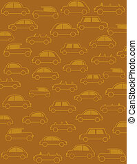 background with many cars in retro