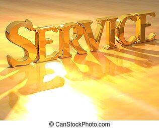 3D Service Gold text