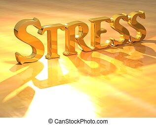 3D Stress Gold text