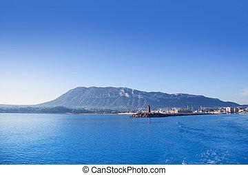Alicante, Denia, Puerto deportivo, azul, Mediterráneo