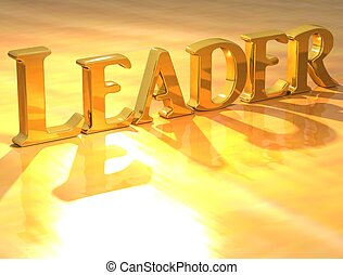 3D Leader Gold text