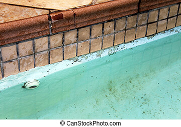 Home Repair Maintenance Cracked Tiles and Pool - Cracked and...
