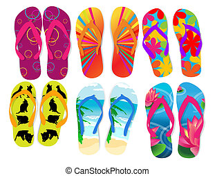 Flip flops  - Vector illustration of flip flops