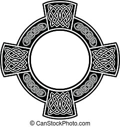 Celtic cross with framework - The vector image Celtic cross...