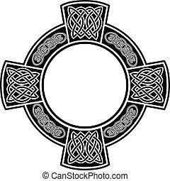 celta, cruz, armazón