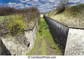 Moat - Old deep moat of a fortress, Hungary