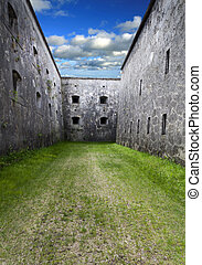 Internal moat - Morbid internal moat of a fortress, Hungary...
