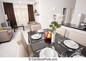 Luxury apartment interior design - Living area of a luxury...