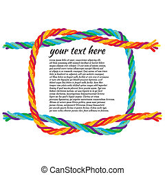 reef-knot - illustration of a reef-knot tie colorful rope...