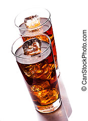 Ice Tea on white background - photo of ice tea with ice...