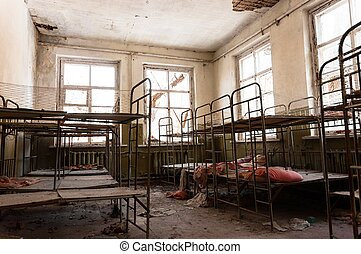 Abandoned nursery with toys at Chernobyl
