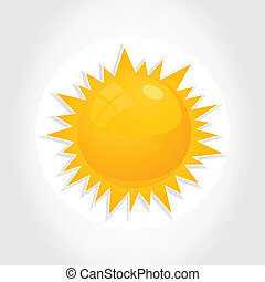 Yellow sun - The yellow sun on a white background A vector...