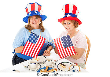 Tea Party Patriots - Two conservative American voters...