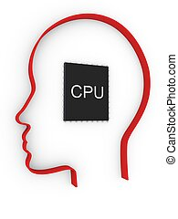 cpu in human head