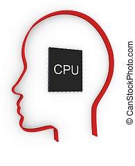 頭, CPU, 人間