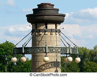 Candelabra on the Waly Chrobrego in Szczecin in Poland - A...
