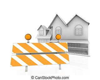 3d modern home construction