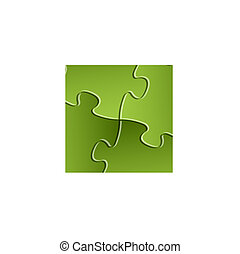 Vector green puzzle / solution background - Abstract vector...