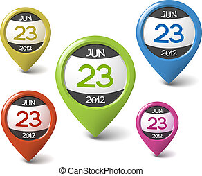 Vector calendar element for your web - Vector date icon for...