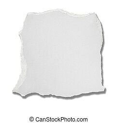 white paper ripped message background - close up of a white...