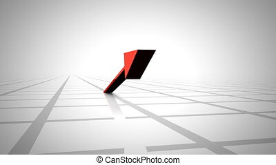 Moving up Arrow - 3d Moving up Arrow with white tiles