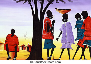 African art - A painting representative of African culture