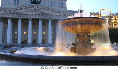 Bolshoi theater, tourists photograph building - Bolshoi...