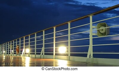 night at sea, view from cruise liner