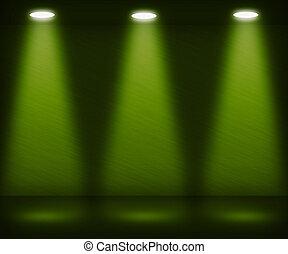 Green Spotlight Room