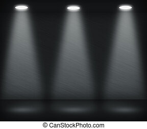 Dark Spotlight Room