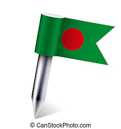 Vector Bangladesh flag isolated on white. Eps10