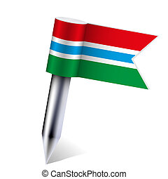 Vector Gambia flag isolated on white Eps10