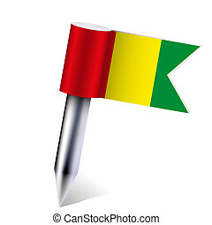 Vector Guinea flag isolated on white. Eps10