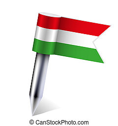 Vector Hungarian Republic flag isolated on white. Eps10