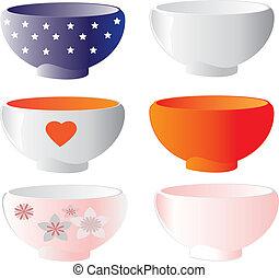 Bowls set vector