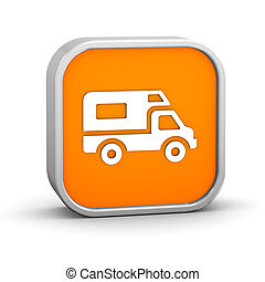 Recreational Vehicle sign on a white background. Part of a...