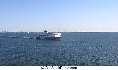 Ferry Viking Line departs from Helsinki