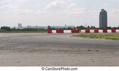 Drift racing on new highway MegaFon Tushino - MOSCOW - JUNE...