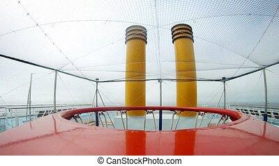 Ball gets to basketball basket on cruise ship