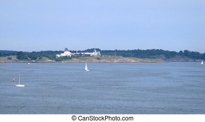 Viking Line cruise liner pass by - HELSINKI, FINLAND - JUNE...