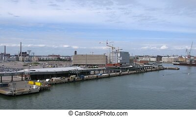 Traffic in port of Helsinki, time lapse - Traffic in port of...