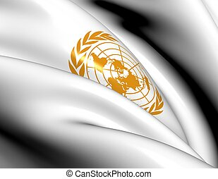 Flag of United Nations Close Up