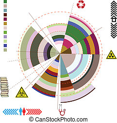 Abstract diagram - The diagram on the abstract theme Vector...